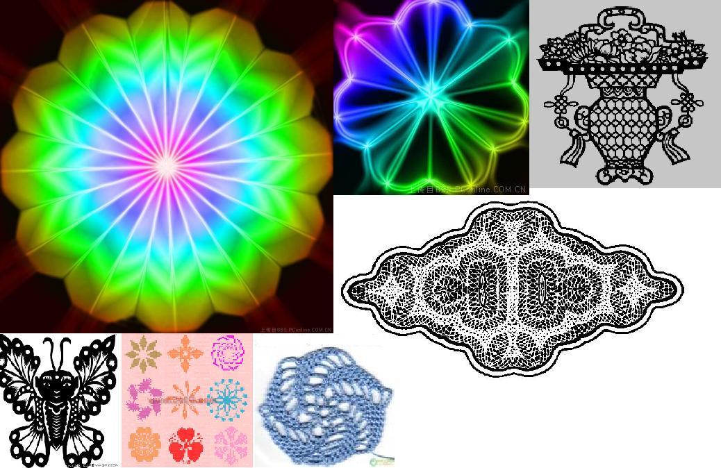 利用中心对称,轴对称,平移,旋转等图形变换设计一幅美丽的图案
