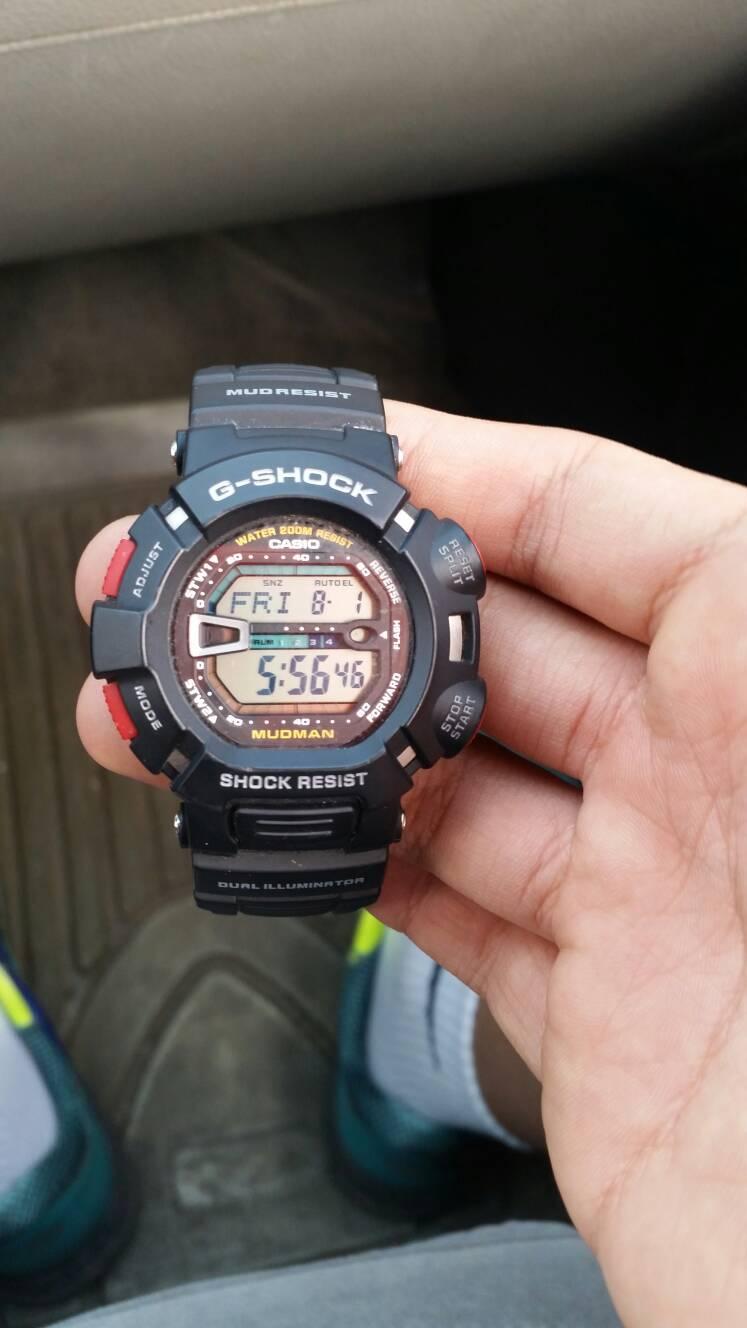 g9000卡西欧手表怎么调时间?