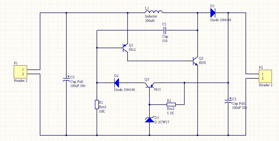 5v升压到3.6v的充电电路图
