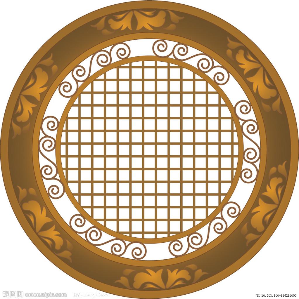 求好看的中国古代圆形窗户的背景图