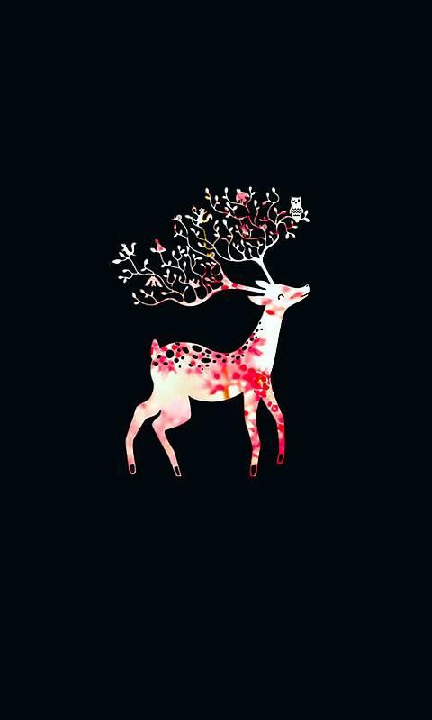 求提供 鹿 的图片,森系的那种