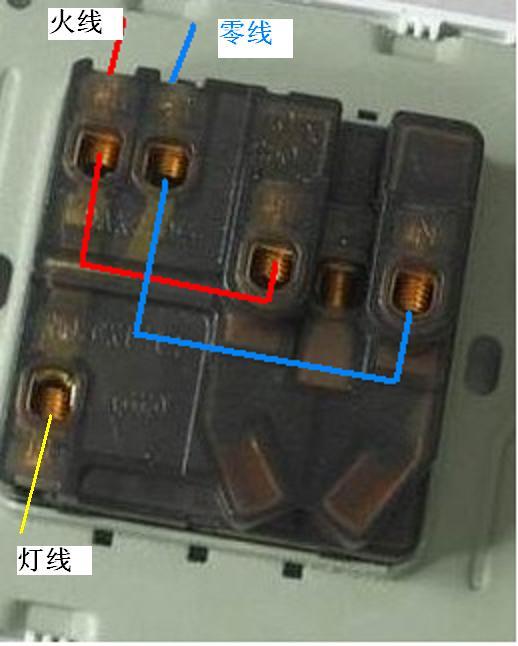 如果灯线开关控制的是零线的话需要单独再接一根火线