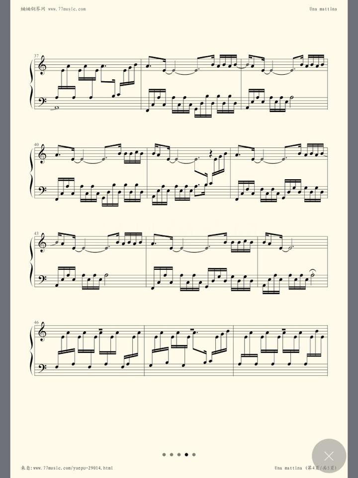 una mattina钢琴谱