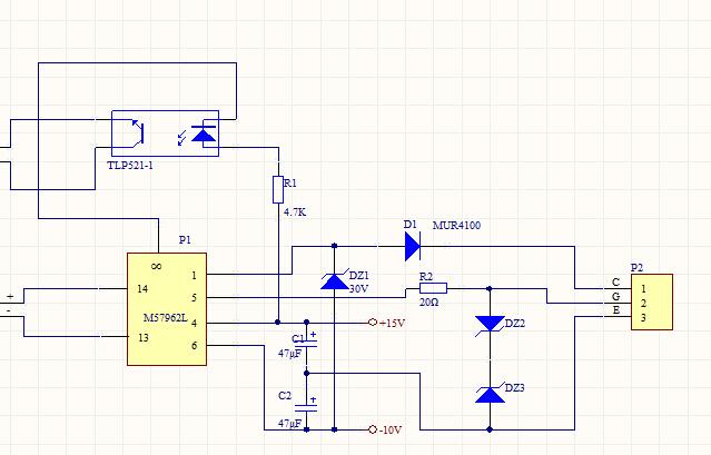 igbt驱动电路如何和igbt实物进行接线?