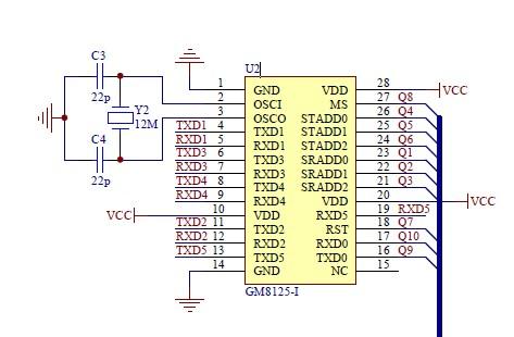 这是小弟弄得gm8125外围电路图,请高手们指点一下这个