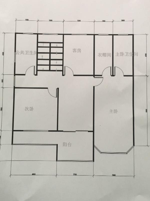 求90平米房子设计图,一楼门面两室一厅一厨一厕5层-90平米房屋设计