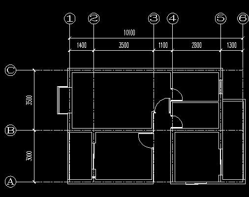 将建筑平面图的墙体线,轴线,及尺寸标注分别修改到对应的图层上!