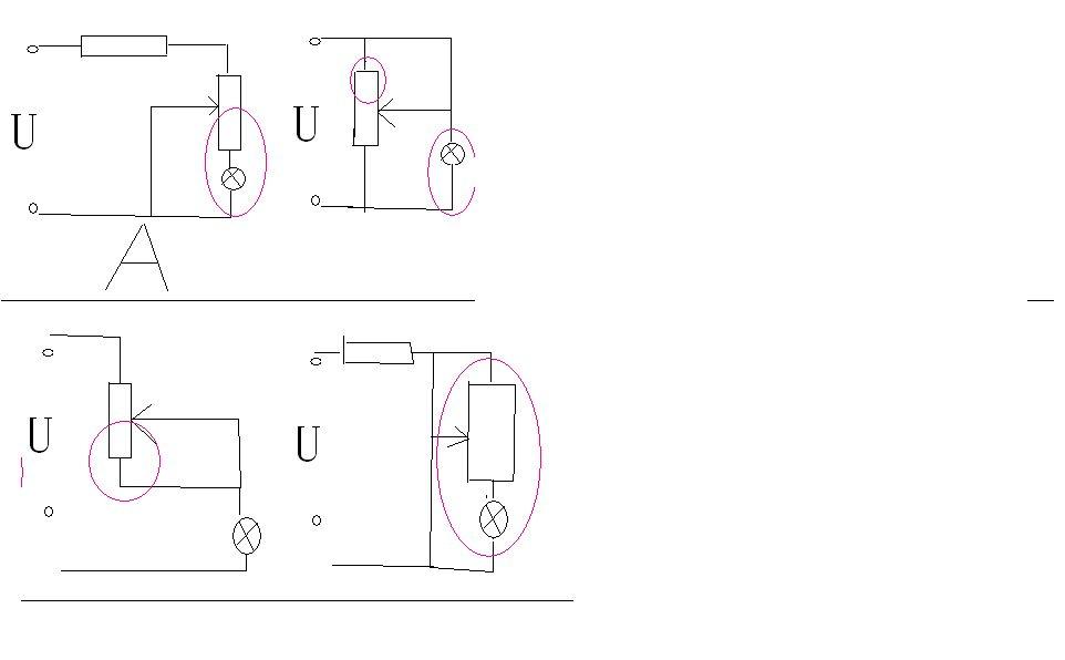 滑动变阻器被短路的电路图.请进