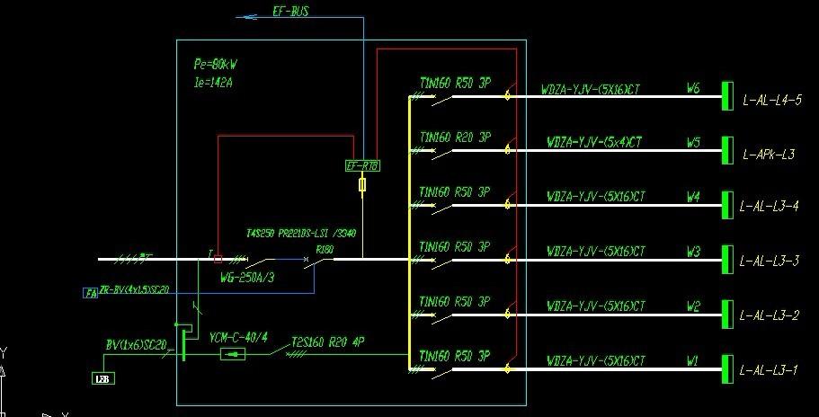 这三个配电系统电路图是什么意思啊,里面的符号各代表