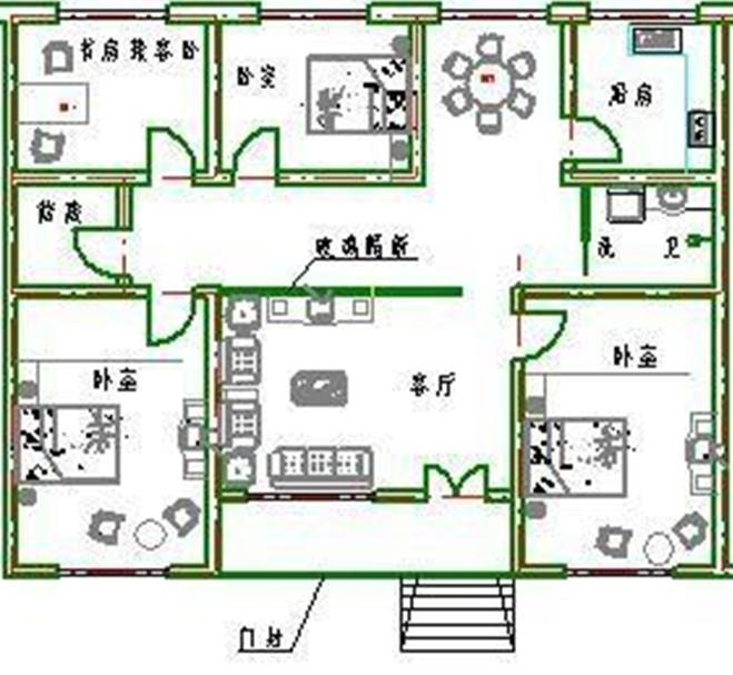 14米x7米自建房设计图