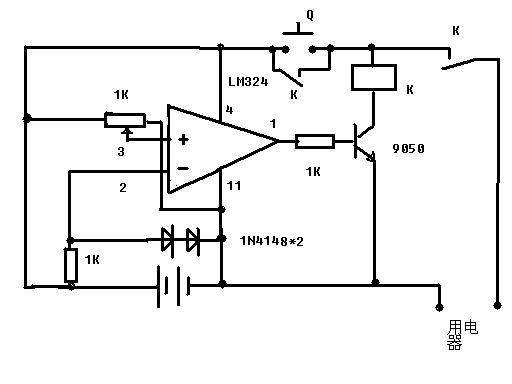 最简单的方法是:  1,取一三极管,基极接两个分压偏置电阻,如暂定为