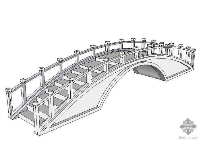 赵州桥示意图 手画