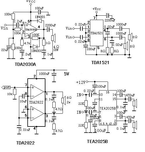 求小型有源音箱功放电路图