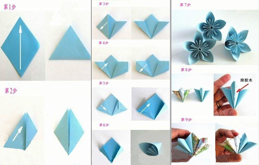 怎么折纸花,求图解