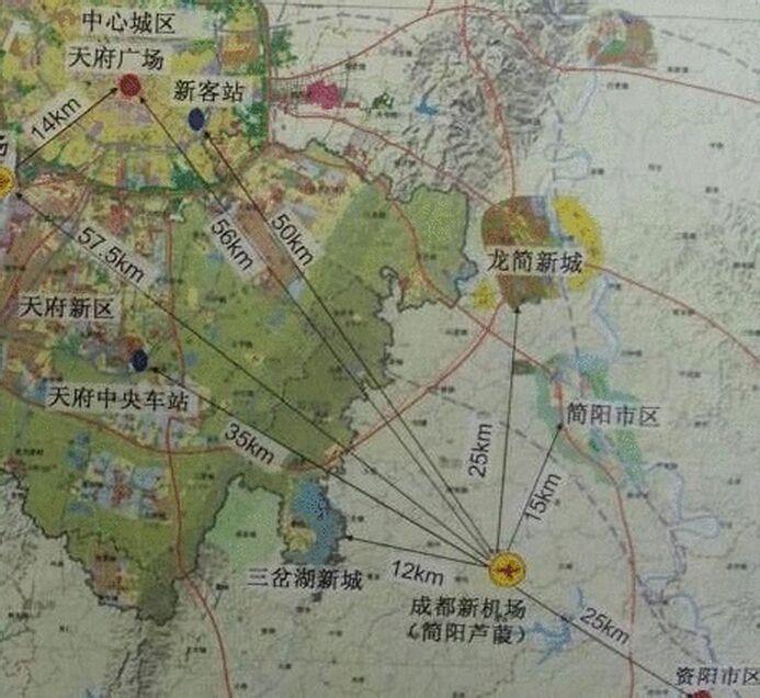 简阳机场位置_简阳芦葭机场修在哪里,要占哪些地方