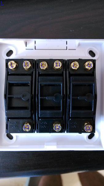 一个双控三联开关控制三个灯的接线图图片