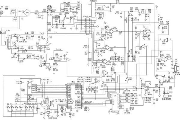 电磁炉电路板测量电压怎么样接地?