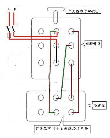 hy2(k03)倒顺开关有个接线头根线接入单相电机,有两个