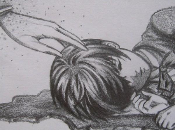 彩铅手绘小清新风景黑白画