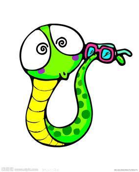 找一些可爱的卡通小蛇.