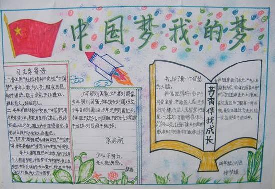 《中国梦 我的梦》的手抄报图片及内容.