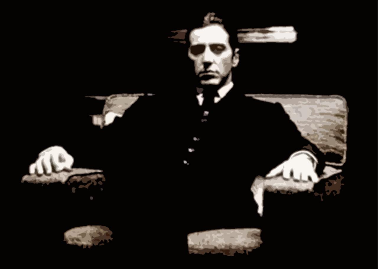 哪位有阿尔帕西诺在教父里坐在椅子上的高清图,太喜欢