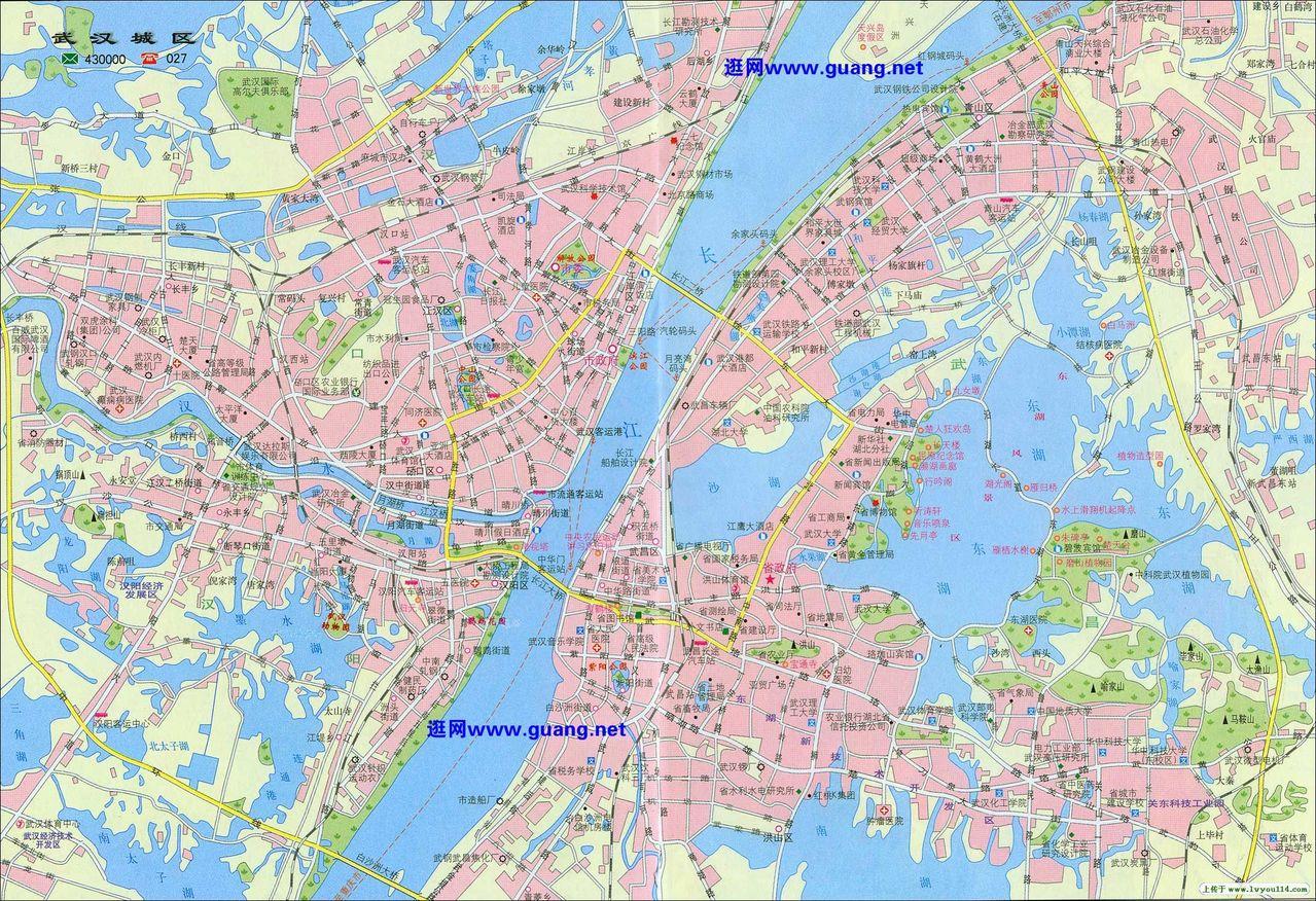 武汉地图图片
