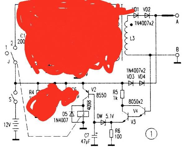 使继电器线圈通电,吸合才升压击毙老鼠的,目前只做了控制电路的那一块