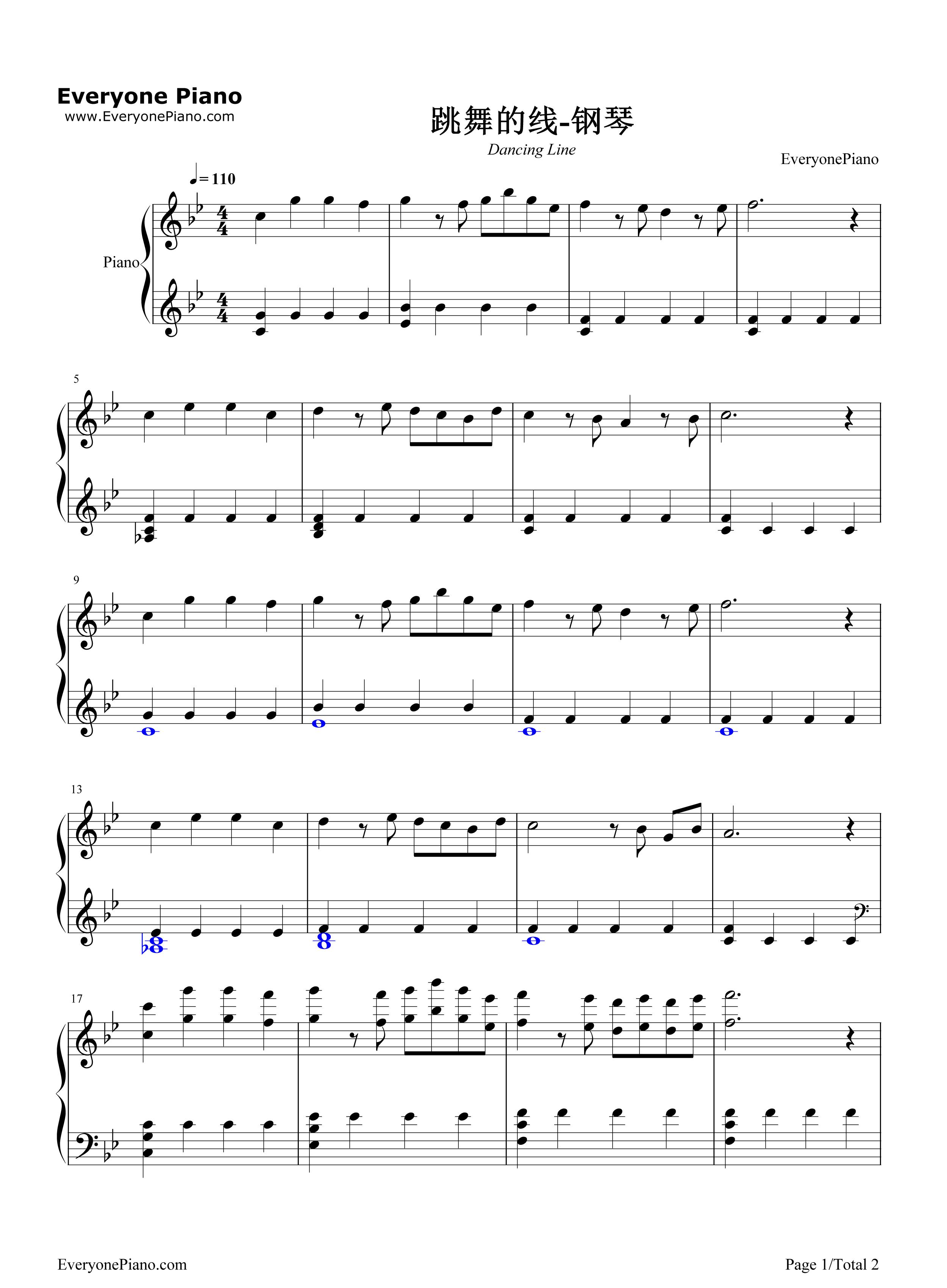 最全钢琴谱里的跳舞的线钢琴怎么搜