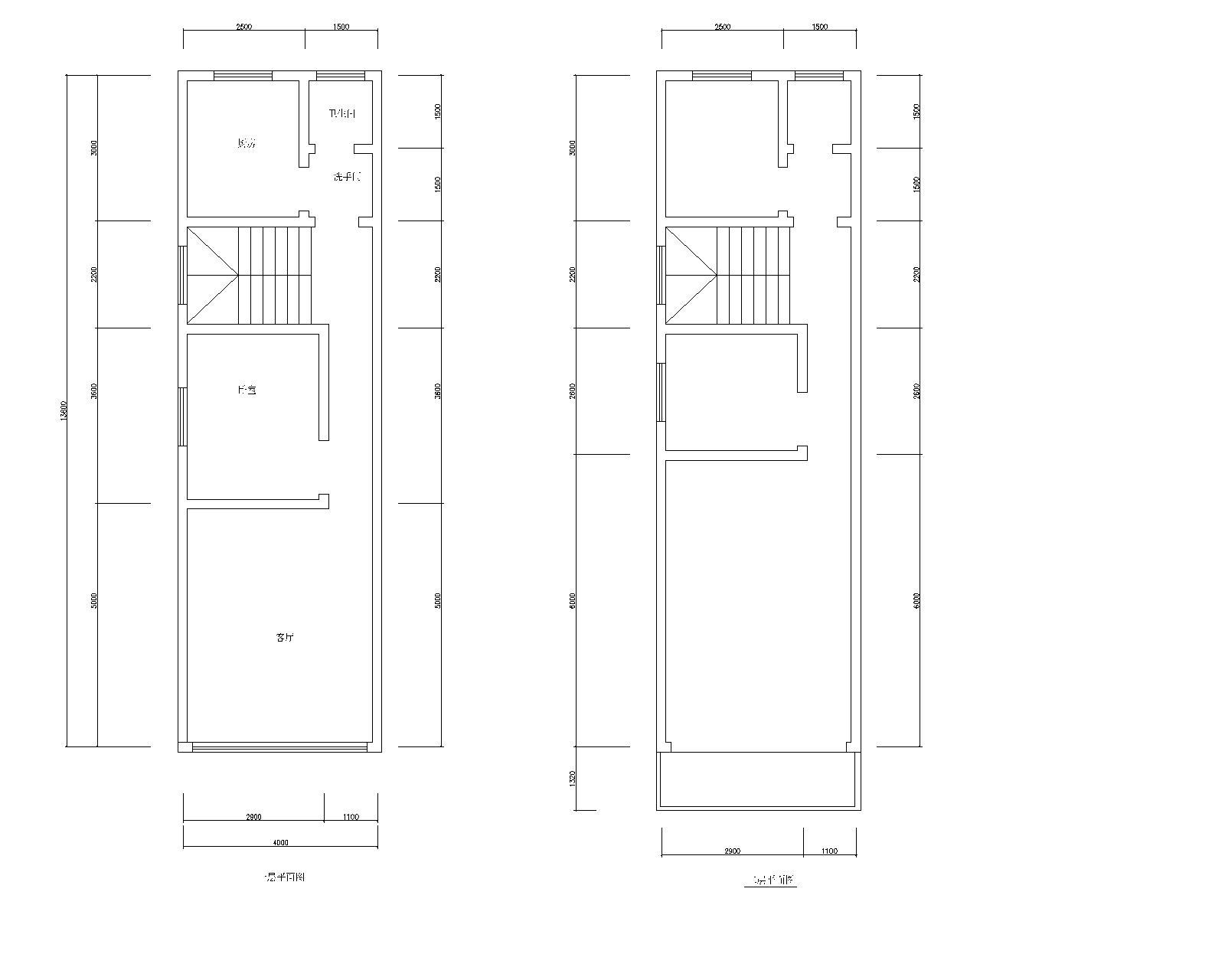 5米的二层建筑设计图图片