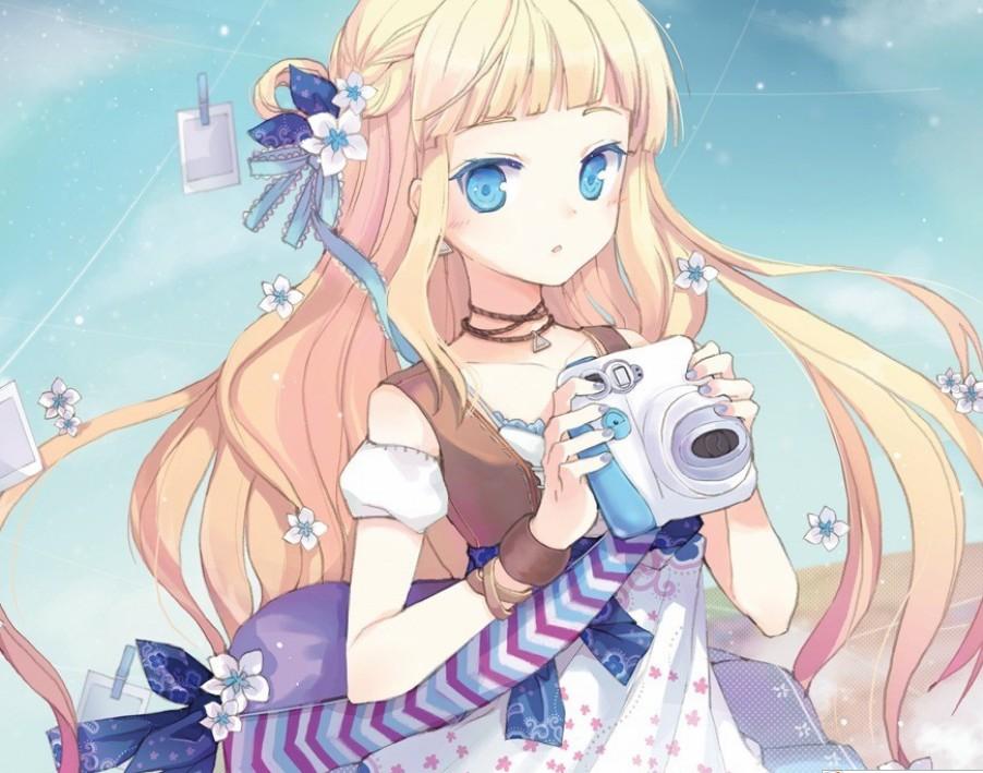 有点色色的日本12到14集动漫_请帮我找一个动漫女孩的名字:黄色卷发,蓝色眼睛,拿着