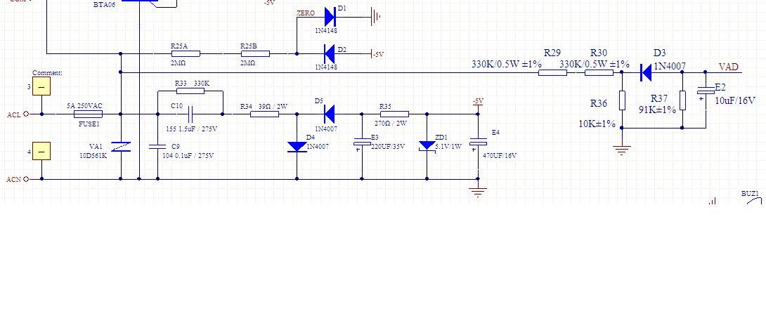 单片机交流电压检测电路请帮分析下电压检测是如何实现的?