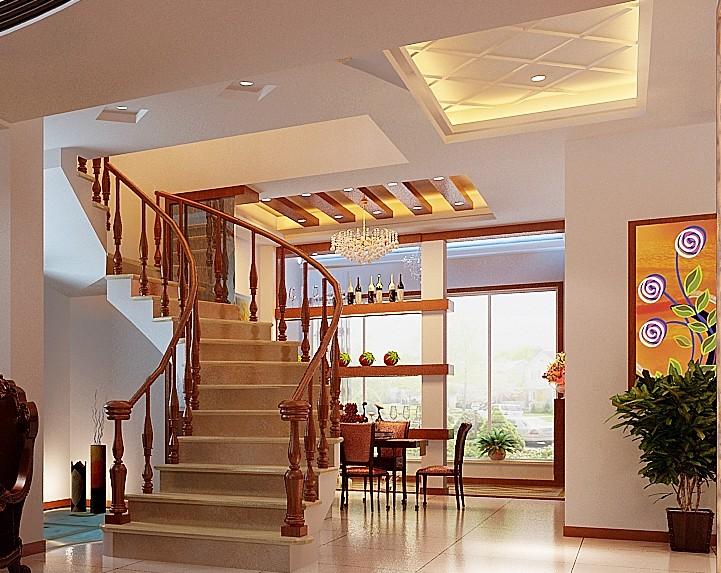 客厅和阳台挑高6米装成跃层电视墙及客厅楼梯如何装才