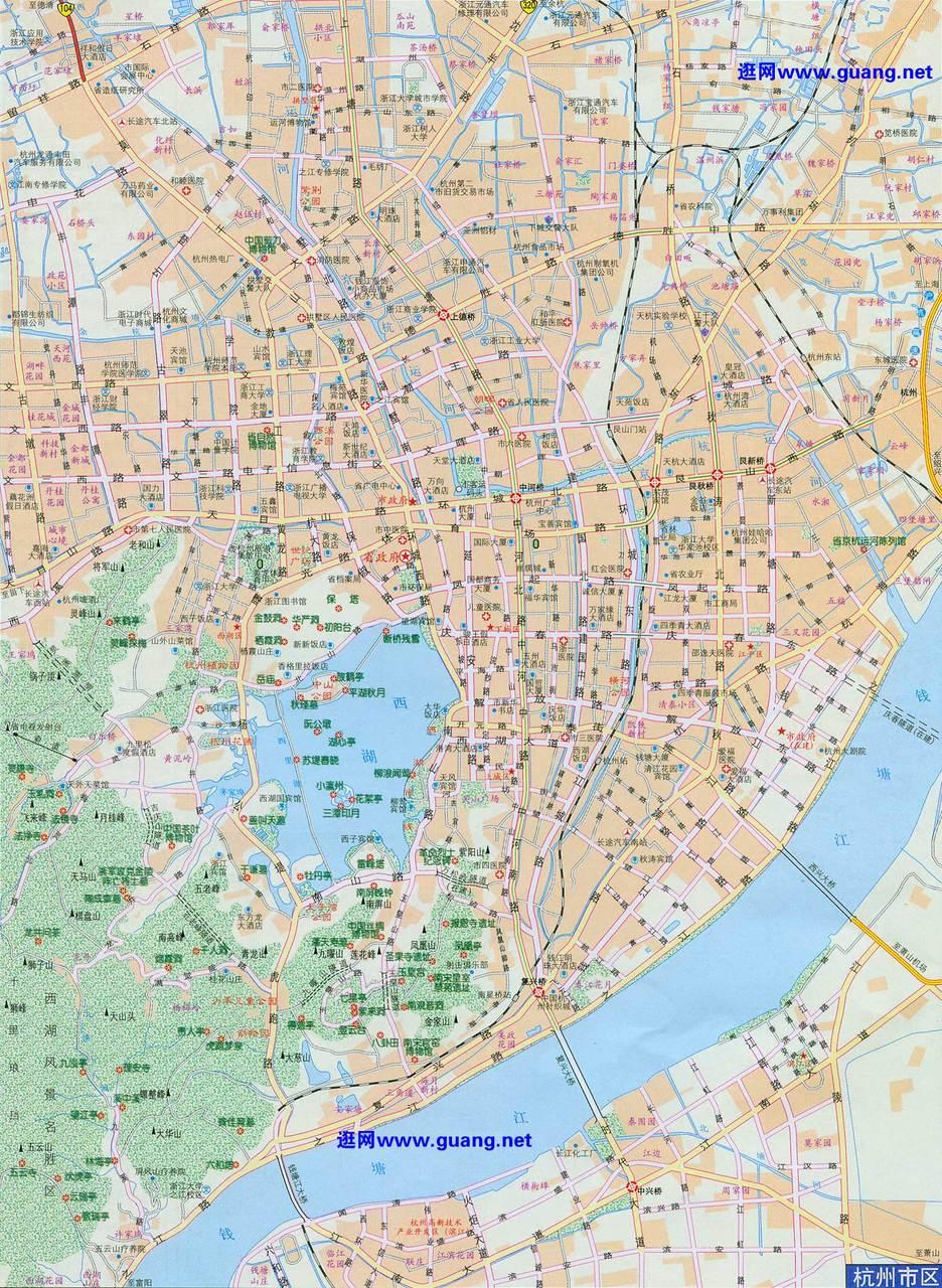 谁有2011年的杭州市区地图和下沙地图,要高清的,谢谢了!图片