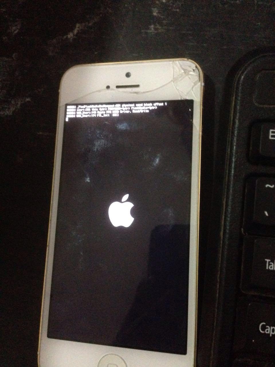 手机5开机白苹果,缩小不了图标显示苹果图片