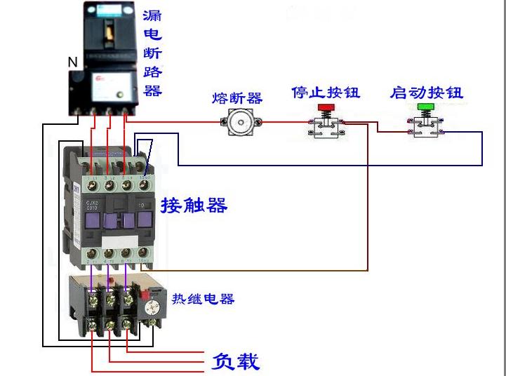 正泰cjx2-0910交流接触器接线法实物图
