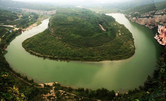 鹤壁淇河天然太极图的景色奇特之处_百度知道