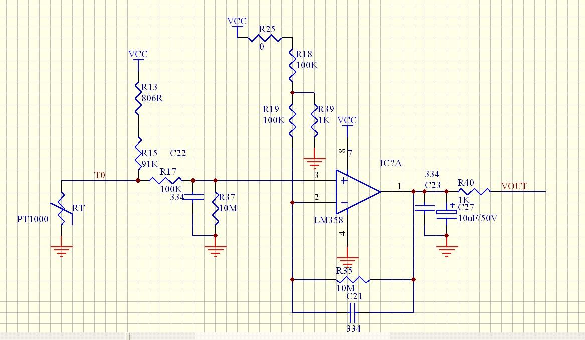 个人认为你的输出电压不用计算的,你要看下你那颗lm358的datasheet