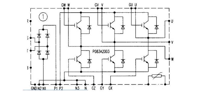 器功率模块内部封装一部分是由二极管组成的单相或三相桥式整流电路