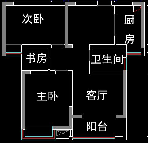 求根据图帮我看下风水,这个房子属于 离宅.坐南朝北,因为大门 朝北的