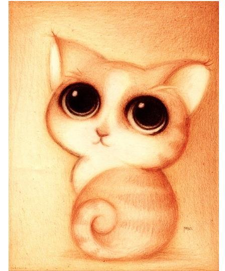 儿童萌动物彩铅画图片