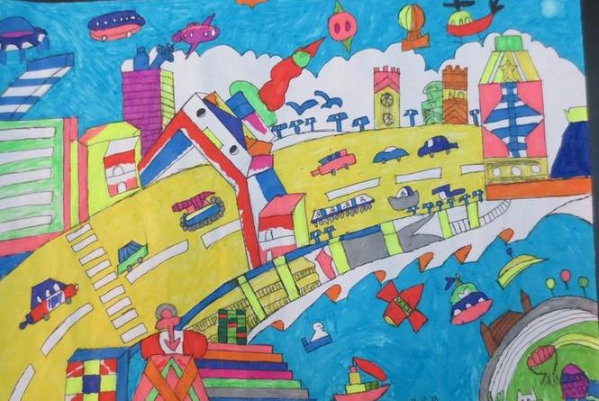 我的梦 我的中国梦 为主题 怎么绘画 如图所示: 我的梦中国梦绘画