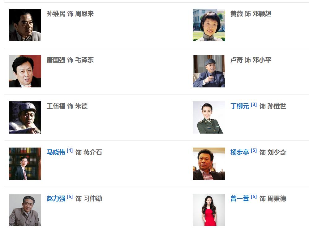 者们所有演员表_海棠依旧全部演员表孙维世扮演者?