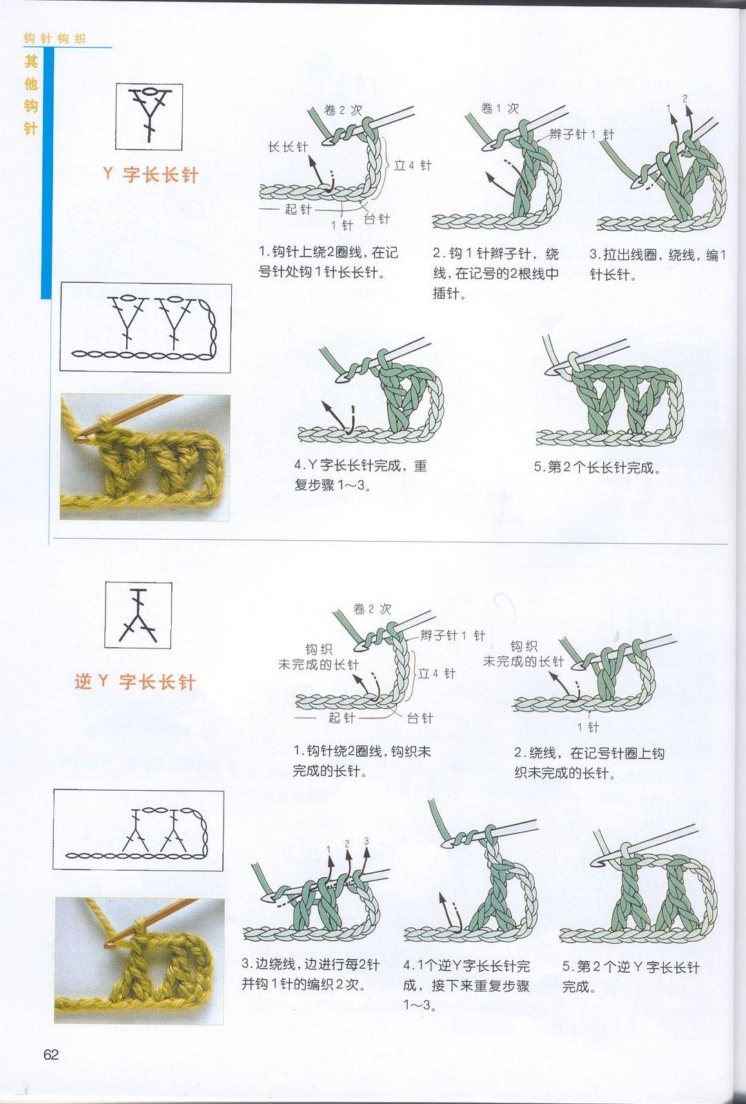 钩针符号y是什么针怎么钩法