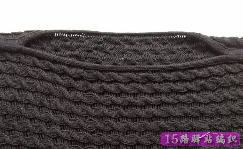 求平针一字领横向编织毛衣方法