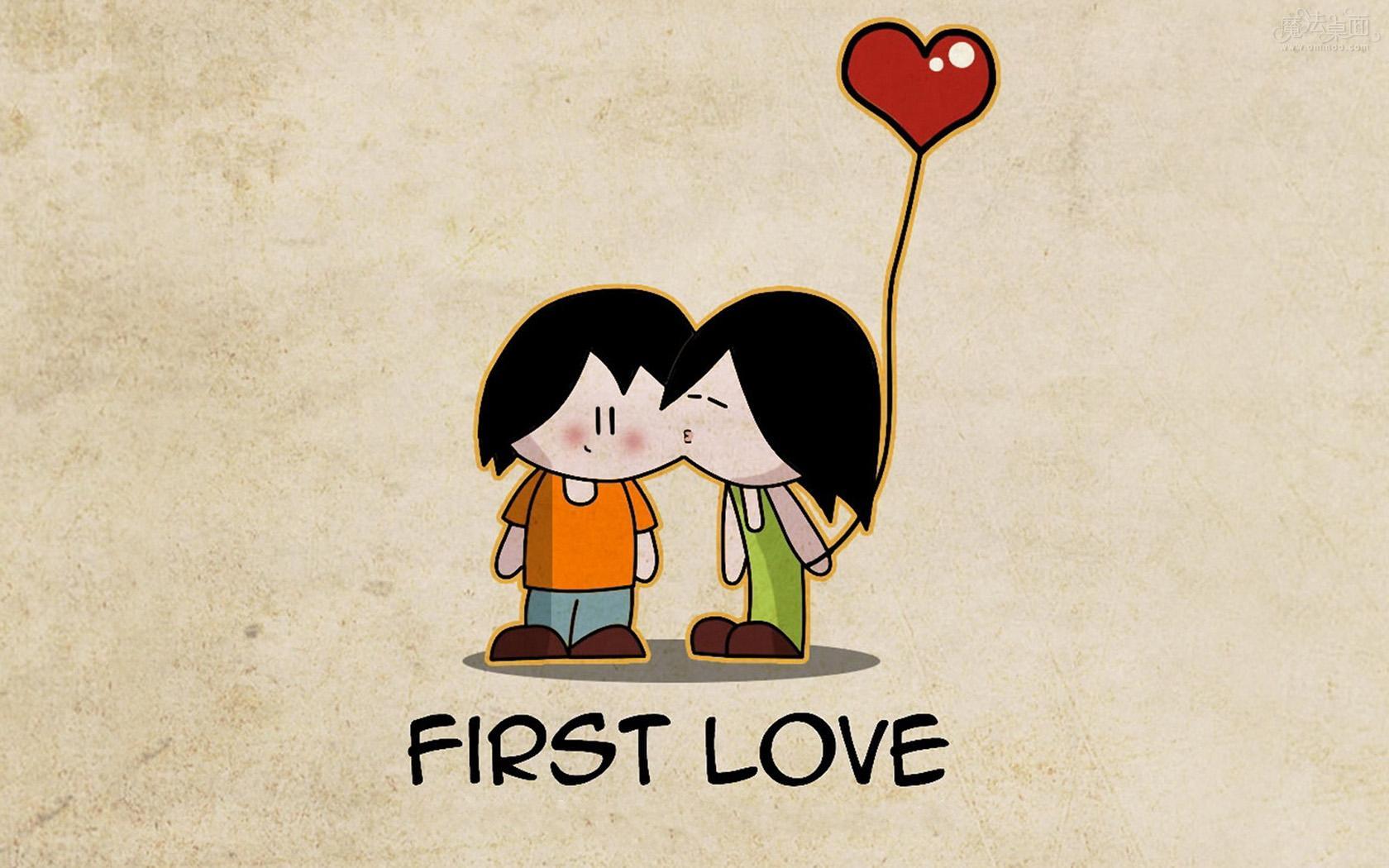 一张黑白小男孩亲吻小女孩的图,谁有高清的?我想做壁纸