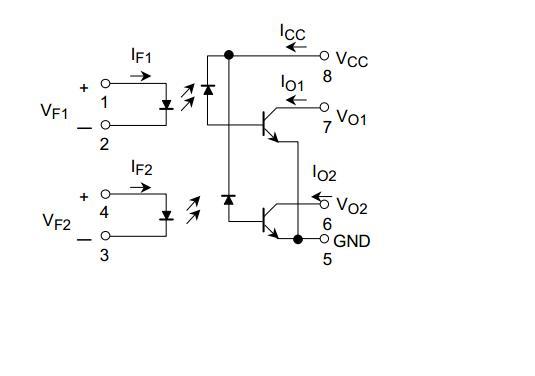 这是光耦tlp2530的原理图,有几个疑问想请教一下:右边