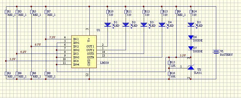 用lm339和tl431做一个电量显示板 分压电阻怎么计算啊
