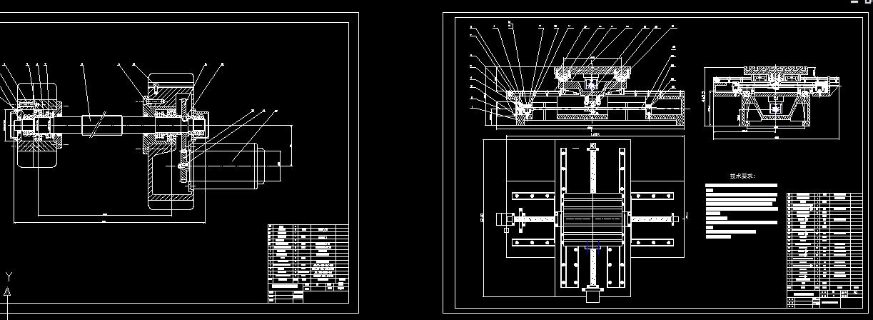 求数控铣床x-y工作台课程设计.cad装配图和说明书.