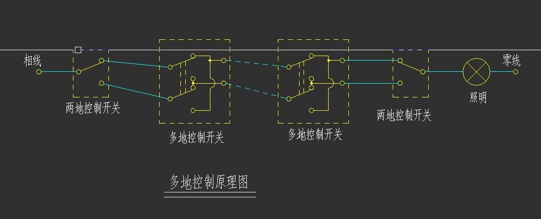 双联(多联)控制开关的接线图及接线方法?